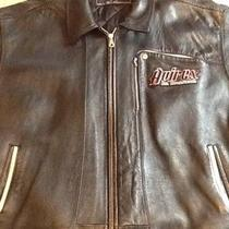 Authentic Classic Avirex &amp034new york&amp034 Leather Jacket Photo