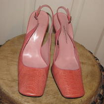 Authentic Dolce &ampamp Gabbana d&ampampg Leather Heels Light Pink 37(it) - Us 6.5 Photo