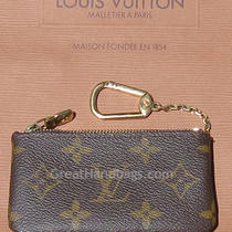 Authentic Louis Vuitton Key Case Wallet - Signature Monogram  Photo
