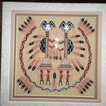 Authentic Navajo Indian Sand Painting Photo