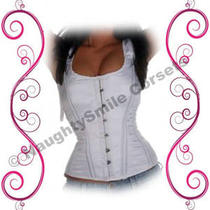 Authentic Organic Corsets Usa-White Satin Corset Photo