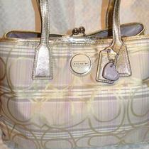 Authentic Purple and Gold Coach Purse for 120 or Best Offer Photo