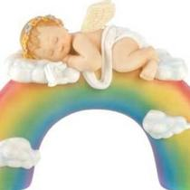 Baby Angel on top of Rainbow Photo