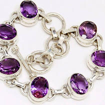 Bb99 Amethyst 925 Sterling Silver Bracelets Photo