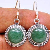Be151 Aventurine 925 Sterling Silver Earring Photo
