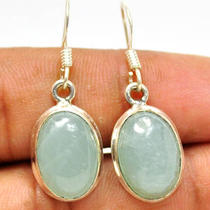 Be41 Aquamarine 925 Sterling Silver Earring Photo