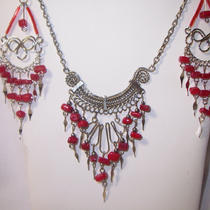 Beautiful Bohemian Style Necklace and Earring Set  Free Shipping Photo