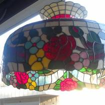 Beautiful Vintage Tiffany style hanging lamp Photo