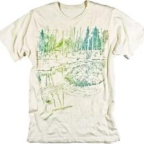 Beaver Dam T-Shirt Trees Nature Cool Colorful Graphic T-Shirt Smlxlxxl Photo