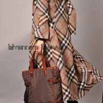 Beige Camel Plaid Twill Tweed Wool Long Coat Bell Sleeves Brown Black Tartan Photo