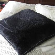 Big Black Fuzzy Pillow! Photo