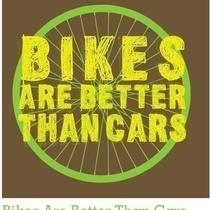 Bikes Are Better Than Cars T-Shirt Sizes - Smlxl Photo