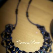 Black Ab Crystal Necklace Photo