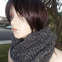 Black Heather Grey Chunky Cowl/neckwarmer/hood Circular Scarf - Men or Women Ready to Ship Photo