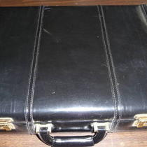 Black Leather Attache Case  Photo