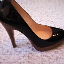Black patent pumps Size 7.5 Photo