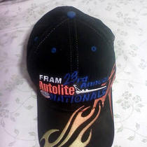 Black Sonoma Nhpa Race Hat. Flame and Logo Design. Photo