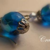 Blue Glass Wire Wraps Photo
