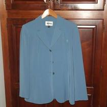 Blue Kasper Pant Suit Photo