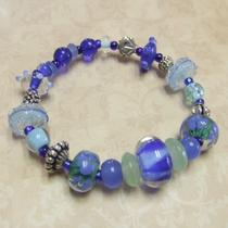 Blue Lagoon Lampwork Bead Bracelet Photo