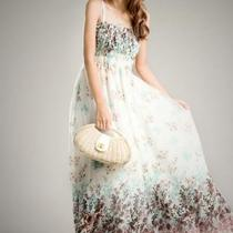 Bohemia Floral maxi Long braces strap Dress Skirt SK5 Photo