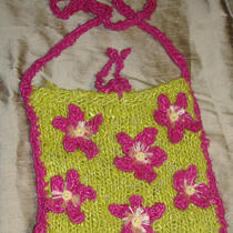 Boho Chic Banana Silk Knitted Bag Photo