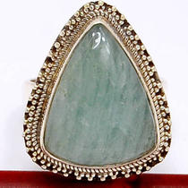 Br466 Aquamarine 925 Sterling Silver Ring Photo