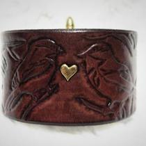 Brass Love Birds Leather Bracelet Photo