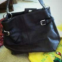 Brown leather Tommy Hilfiger tote Photo