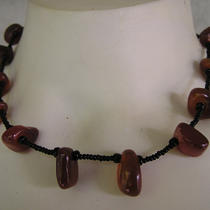 Brown Rock Seed Bead Bead Necklace Photo