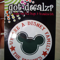 Buy Any 3 Get 1 Free - We Are a Disney Family Personalized  - 2 1/4 in Pin Back Button Photo