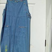 Capacity Jean Dress With  Embroidery in Neck Line and on the Pockets  Photo