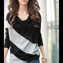 Casual Style Loose-Fitting Cowls Neck Long Sleeves Cotton Blend  Photo