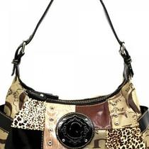 "Celebrity ""G"" Style Shoulder Bag in Brown Photo"