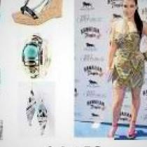 Celebrity-inspired: Tribal print dress w/shoes, purse and accessories...5 cent shipping Photo