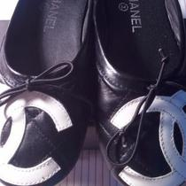 Chanel Black Bow Flats Photo