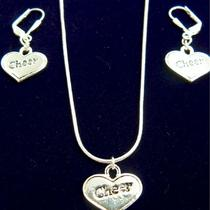 Cheerleader Necklace and Earring Set Photo