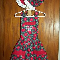 Child Sized Sun Bonnet and Matching Apron Set Photo