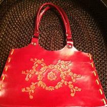 Christmasleather Hand Made Hand Tooled Red Purse Photo