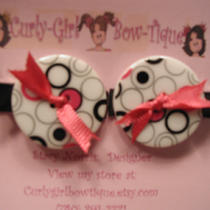 Chunky Button Barrettes Photo