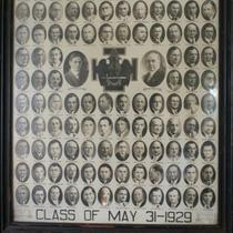 Class of May 31 Vintage Portrait Photo