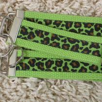 Clearance Sale Lime Green Leopard Print Keychain Key Fob - Sugarkitty Photo