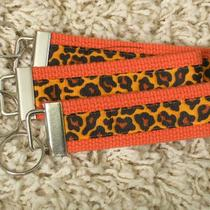 Clearance Sale Orange Leopard Print Keychain Key Fob - Sugarkitty Photo