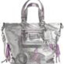 Coach 16050 Poppy Star Leather Spotlight Silver Photo