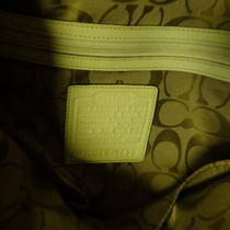 Coach Purse-Leather White Large Photo