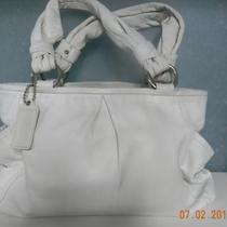 COACH TOTE PURSE WHITE Photo