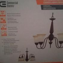 Commercial Electric Nutmeg 5-Light Reversible Chandelier  Photo