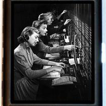 Compelling Telephone Operators at a Switchboard Vintage Retro Design Black Metal Cigarette or Id or Business Card Case Wallet or Mp3 Carrier Photo