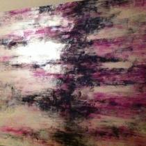 Contemporary abstract on canvas Photo