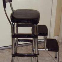 Cosco Black Retro Counter chair/step Stool  Photo